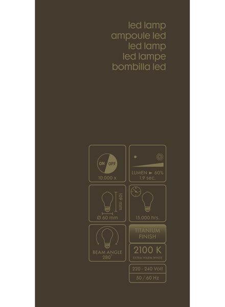 LED lamp 4W - 100 lm - peer - titanium - 20020068 - HEMA