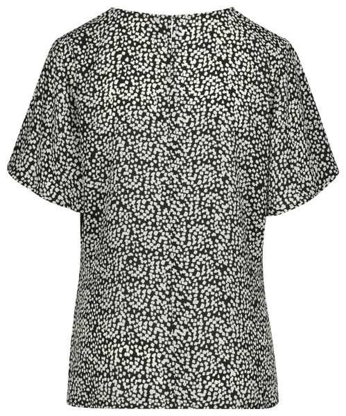 dames top zwart/wit L - 36208029 - HEMA