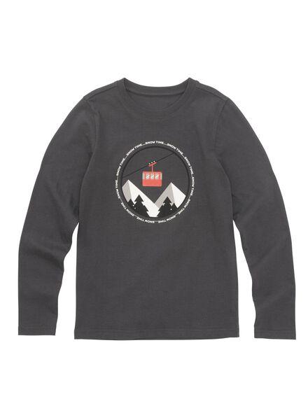 kinder t-shirt antraciet antraciet - 1000010716 - HEMA