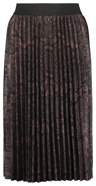 damesrok plissé bruin bruin - 1000022467 - HEMA