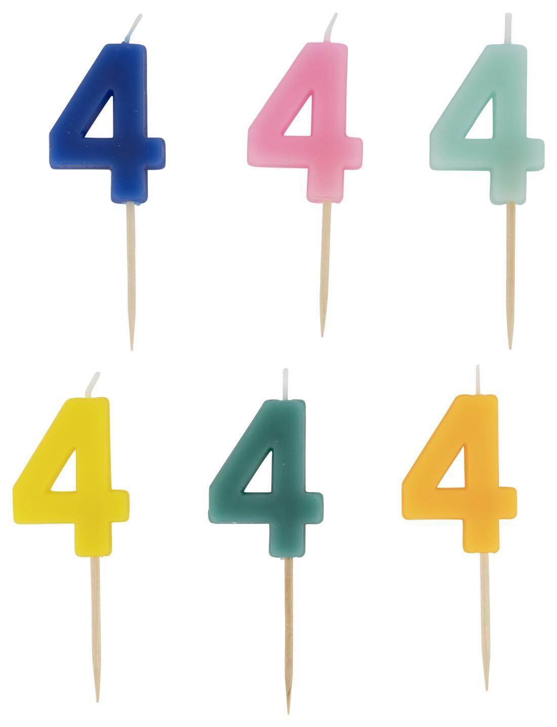 HEMA Taartkaarsje - Cijfer 4