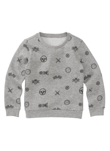 kindersweater grijs grijs - 1000011340 - HEMA