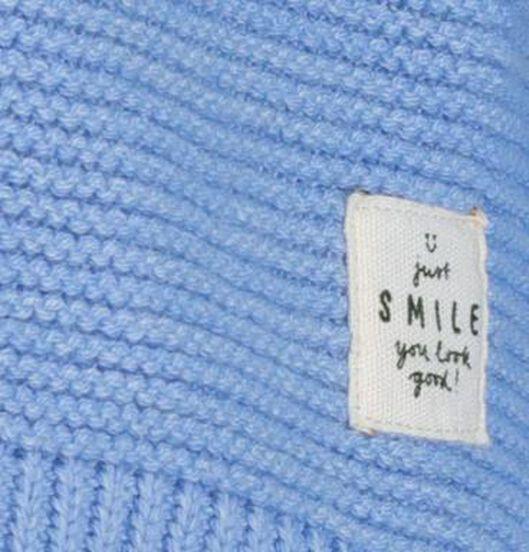kindertrui gebreid blauw blauw - 1000017532 - HEMA