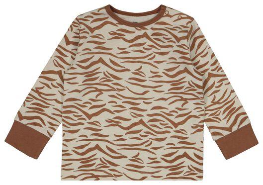 babypyjama's zebra/regenboog 2 stuks gebroken wit gebroken wit - 1000022581 - HEMA