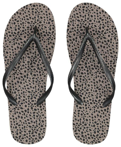 dames teenslippers stippen taupe taupe - 1000023387 - HEMA