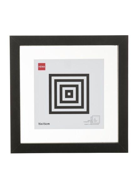 fotolijst magnetisch 15 x 15 cm 15 x 15 zwart - 13680046 - HEMA