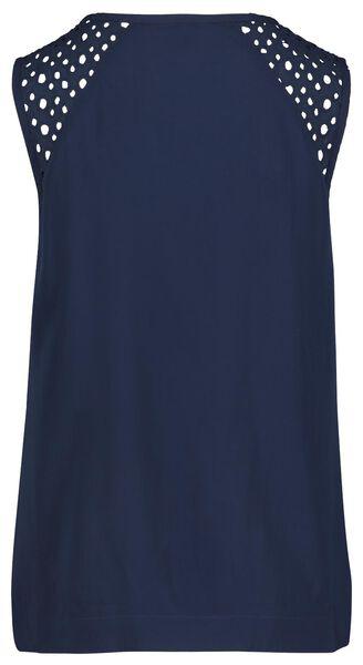 dames top donkerblauw S - 36282023 - HEMA