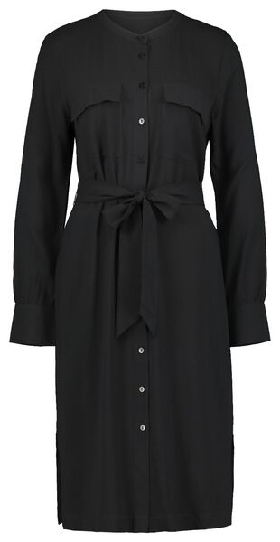 damesjurk zwart zwart - 1000021278 - HEMA