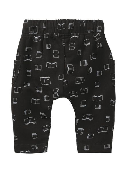 newborn broek zwart zwart - 1000008508 - HEMA