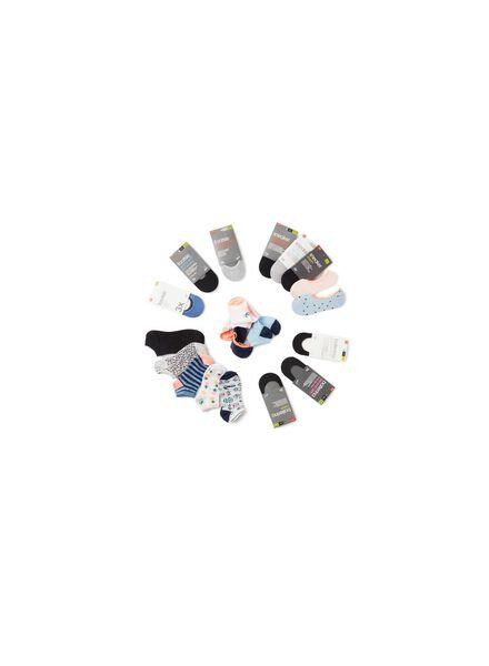 7-pak dames enkelsokken grijsmelange grijsmelange - 1000001744 - HEMA