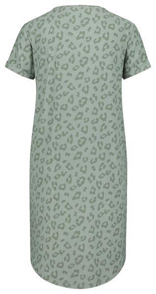 damesnachthemd micro groen M - 23420562 - HEMA