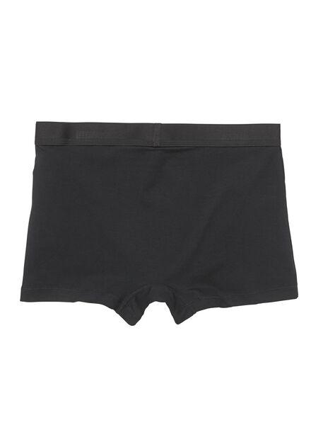 2-pak herenboxers short zwart zwart - 1000009932 - HEMA