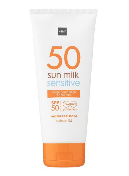 zonnemelk SPF 50 sensitive - 11610147 - HEMA