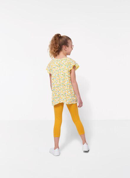 kinder caprilegging geel geel - 1000011705 - HEMA