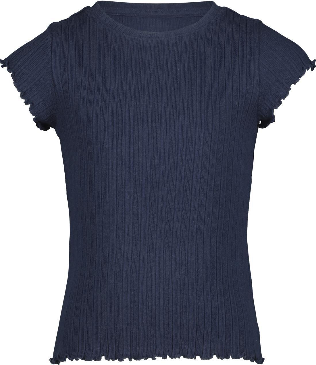 HEMA Kinder T-shirt Rib Donkerblauw (donkerblauw)