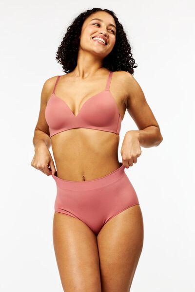 damesslip hoog naadloos roze M - 19658892 - HEMA