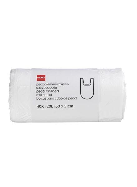 pedaalemmerzakken - 40 stuks - 20550020 - HEMA