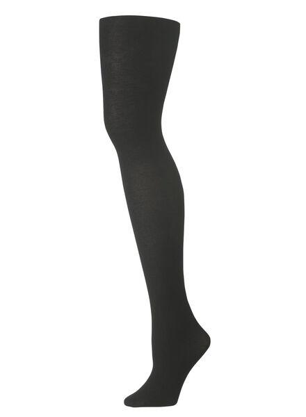 katoenen maillot 100 denier zwart zwart - 1000001195 - HEMA
