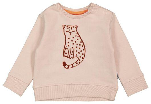 newborn sweater luipaard oudroze 56 - 33411912 - HEMA
