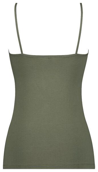 dameshemd spaghettibandjes groen M - 19650513 - HEMA