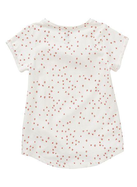 kinder t-shirt gebroken wit gebroken wit - 1000008500 - HEMA