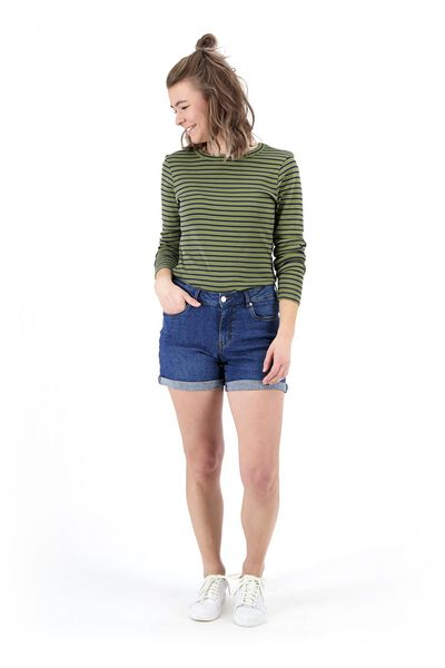 dames t-shirt olijf olijf - 1000019469 - HEMA