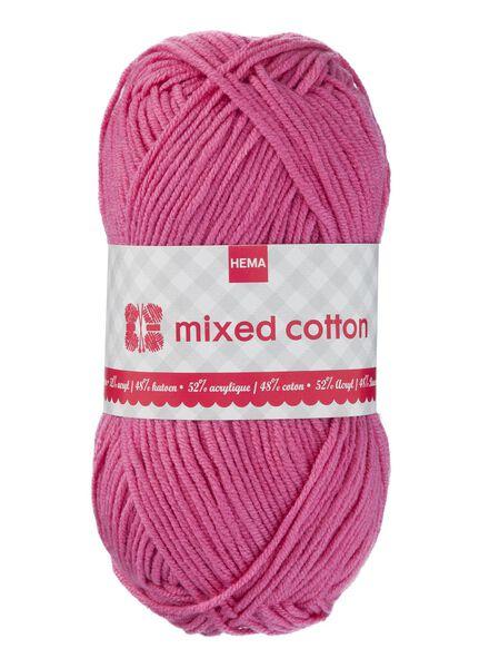 breigaren mixed cotton - donkerroze - 1400156 - HEMA