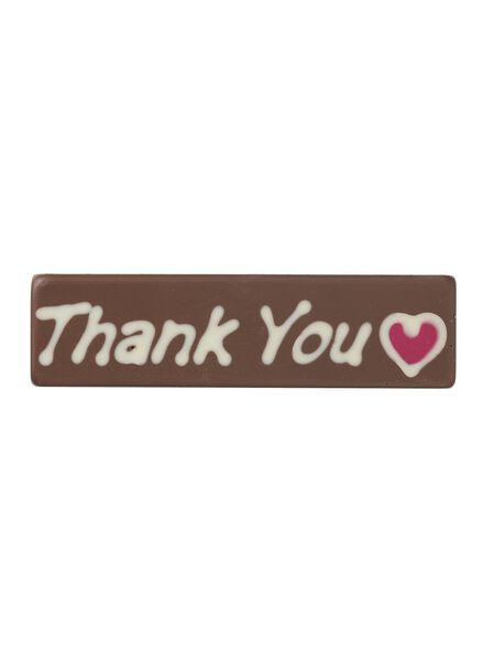chocoladereep thank you - 10370024 - HEMA