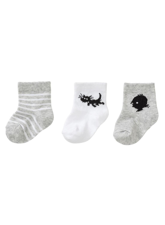 0630b8204fb 3-pak Baby Sokken Jip En Janneke Grijsmelange