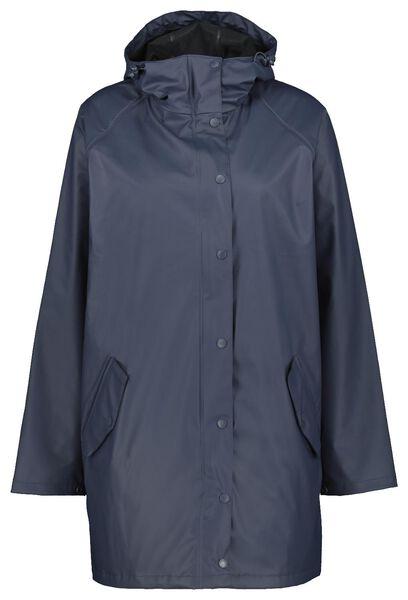 dames regenjas - waterproof blauw S - 36291071 - HEMA