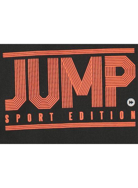 kinder sport t-shirt zwart zwart - 1000008337 - HEMA