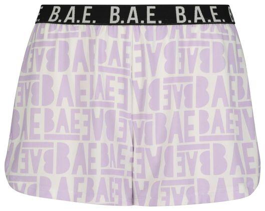 B.A.E. dames pyjamabroek lichtpaars lichtpaars - 1000019503 - HEMA