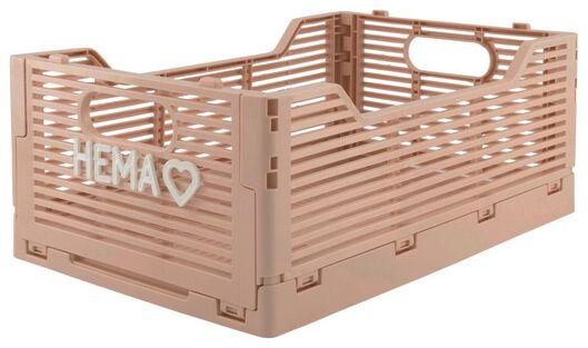 klapkratje letterbord recycled 20x30x11.5 - roze roze 20 x 30 x 11,5 - 39821020 - HEMA