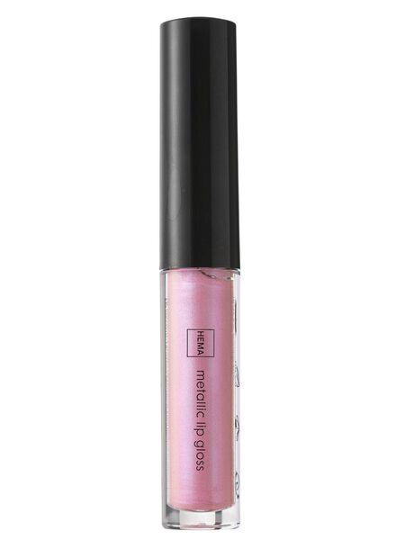 metallic lipgloss gushing pink - 11231101 - HEMA