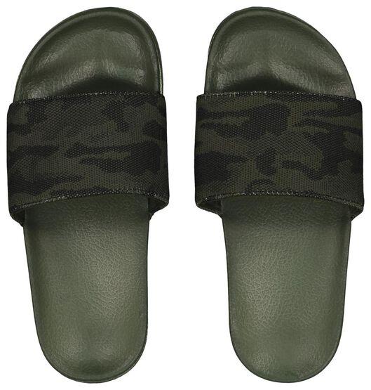 kinderslippers camouflage donkergroen donkergroen - 1000023097 - HEMA