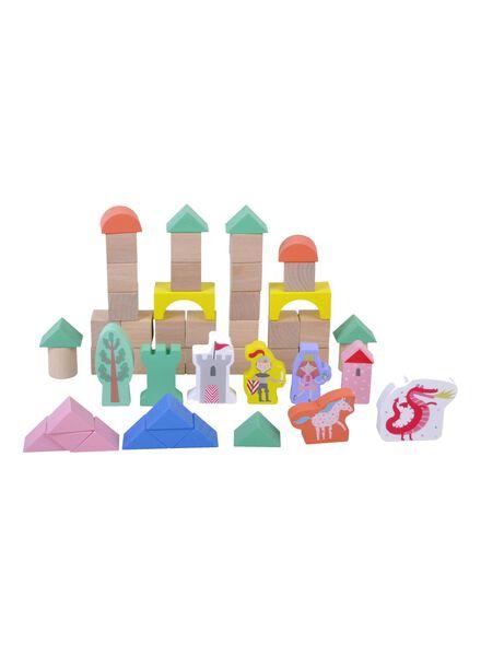 houten blokkenset kasteel - 15110254 - HEMA