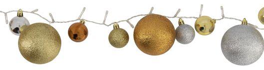 verlichtingssnoer kerstballen goud/zilver 40 LED lampjes 3 meter - 25530323 - HEMA