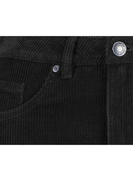 damesrok corduroy zwart zwart - 1000015651 - HEMA