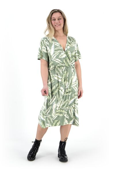 damesjurk groen groen - 1000019432 - HEMA