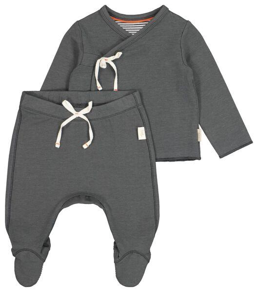 newborn set met bamboe grijs grijs - 1000021400 - HEMA