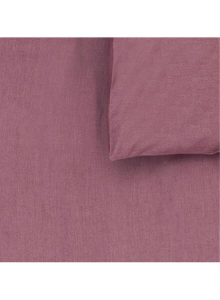 dekbedovertrek - 200 x 200 - chambray katoen - rood rood 200 x 200 - 5700127 - HEMA