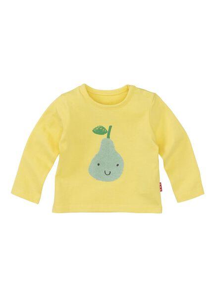 newborn t-shirt lichtgeel lichtgeel - 1000013030 - HEMA