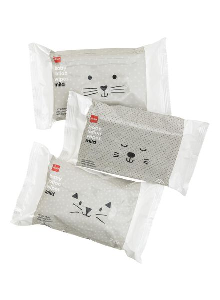 3-pak babydoekjes mild - 11335142 - HEMA