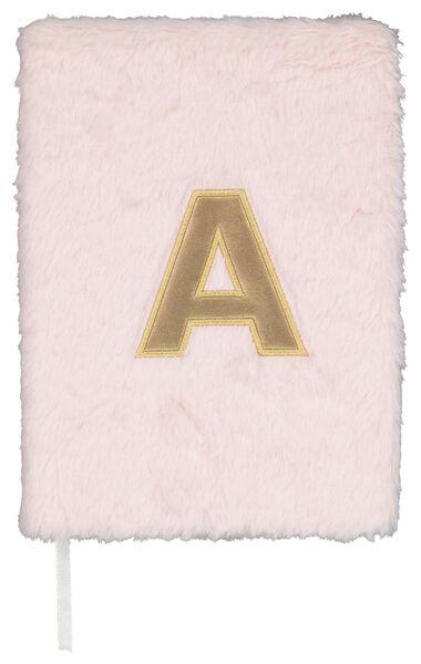 Notitieboek A5 fluffy letter A