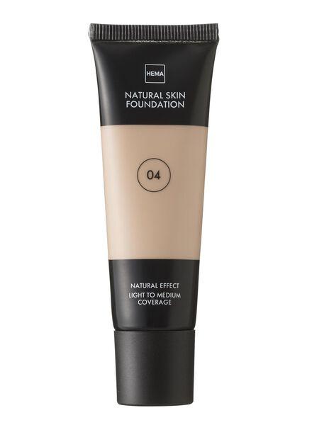 natural skin foundation Beige 04 - 11291004 - HEMA