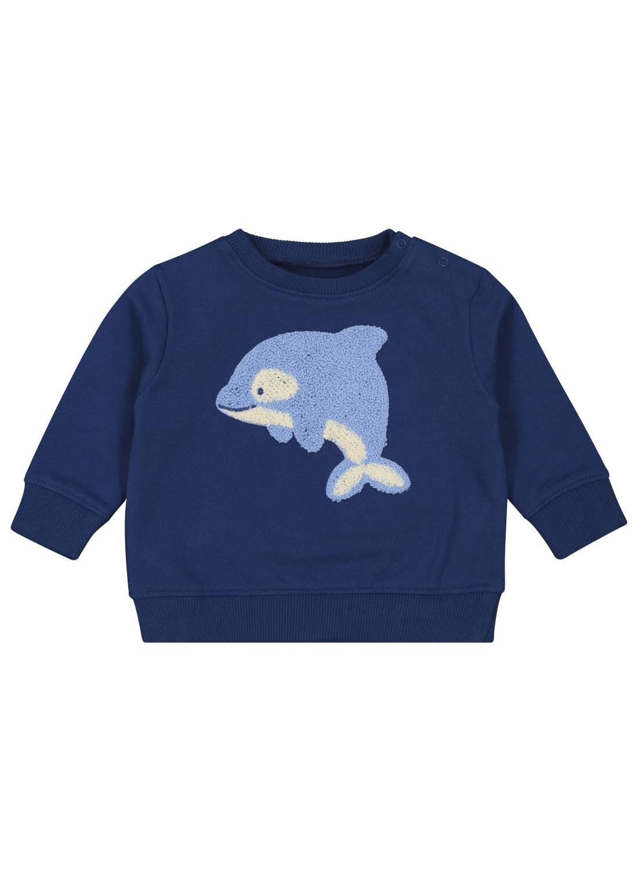 HEMA Babysweater Donkerblauw (donkerblauw)