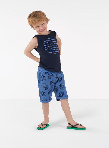 kinder singlets 2 stuks blauw blauw - 1000013298 - HEMA