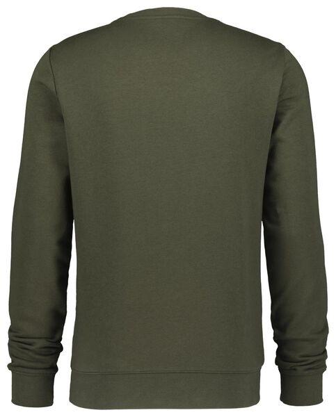 herensweater crewneck legergroen legergroen - 1000020875 - HEMA
