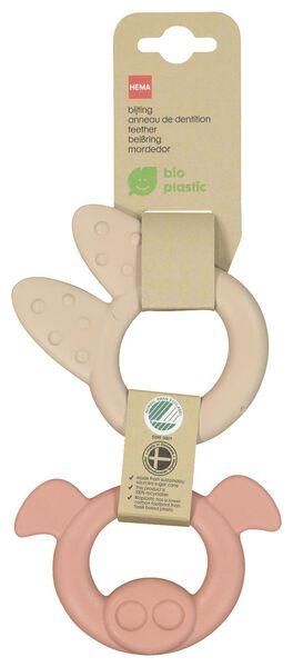 bijtringen bioplastic - 2 stuks - 33502350 - HEMA