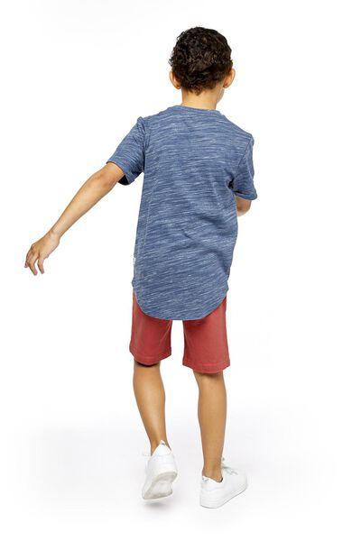 kindershort comfy fit donkerrood donkerrood - 1000018941 - HEMA